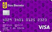 Logo Banco Cetelem Cartão Sou Barato Visa Nacional