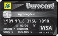 Logo Banco do Brasil Cartão Ourocard Agronegócio Visa Infinite Nacional