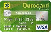 Logo Banco do Brasil Ourocard Agronegócio Visa Platinum