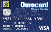 Logo Banco do Brasil Ourocard Bônus Celular Visa Internacional