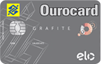 Logo Banco do Brasil Ourocard Grafite