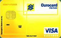 Logo Banco do Brasil Cartão Ourocard Pré-pago Recarregável Visa Nacional