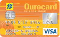 Logo Banco do Brasil Ourocard Universitário Visa Internacional