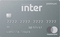 Logo Banco Inter Cartão Banco Inter Mastercard Platinum Internacional