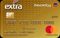 Logo Banco Itaú Cartão Extra Itaucard 2.0 Mastercard Gold