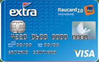 Logo Banco Itaú EXTRA Itaucard 2.0 Visa Internacional