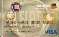 Logo Banco Itaú Cartão Fiat Itaucard 2.0 Visa Internacional