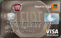 Logo Banco Itaú Cartão Fiat Itaucard 2.0 Visa Platinum