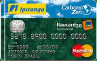 Logo Banco Itaú Cartão Ipiranga Carbono Zero 2.0 Mastercard Internacional