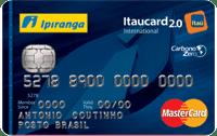 Logo Banco Itaú Cartão Ipiranga Flex 2.0 Mastercard Internacional