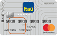 Logo Banco Itaú Cartão Itaú Uniclass Mastercard Internacional