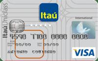 Logo Banco Itaú Cartão Itaú Uniclass Visa Internacional