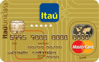 Logo Banco Itaú Cartão Múltiplo Itaú Uniclass Mastercard Gold Internacional