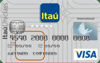Logo Banco Itaú Cartão Múltiplo Itaú Uniclass Visa Internacional
