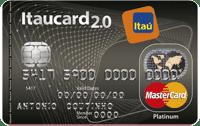 Logo Banco Itaú Cartão Itaucard 2.0 Sempre Presente Mastercard Platinum Internacional