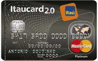 Logo Banco Itaú Itaucard 2.0 Sempre Presente Mastercard Platinum