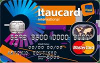 Logo Banco Itaú Cartão Itaucard Universitário Preto Mastercard Internacional