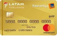 Logo Banco Itaú Cartão Latam Itaucard 2.0 Mastercard Gold Internacional