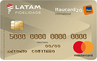 Logo Banco Itaú Cartão Latam Itaucard 2.0 Mastercard Internacional