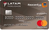Logo Banco Itaú LATAM Itaucard 2.0 Mastercard Platinum