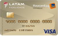 Logo Banco Itaú Cartão Latam Itaucard 2.0 Visa Internacional