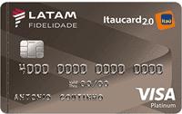 Logo Banco Itaú LATAM Itaucard 2.0 Visa Platinum