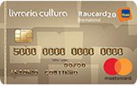 Logo Banco Itaú Cartão Livraria Cultura Itaucard 2.0 Mastercard Internacional