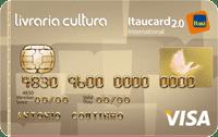 Logo Banco Itaú Cartão Livraria Cultura Itaucard 2.0 Visa Internacional