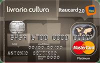 Logo Banco Itaú Cartão Livraria Cultura Itaucard 2.0 Mastercard Platinum