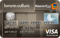 Logo Banco Itaú Livraria Cultura Itaucard 2.0 Visa Platinum