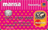 Logo Banco Itaú Cartão Marisa Itaucard 2.0 Mastercard Nacional