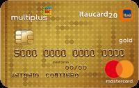 Logo Banco Itaú Cartão Multiplus Itaucard 2.0 Mastercard Gold