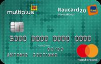 Logo Banco Itaú Multiplus Itaucard 2.0 Mastercard Internacional