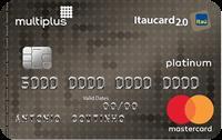 Logo Banco Itaú Cartão Multiplus Itaucard 2.0 Mastercard Platinum