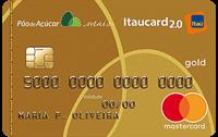 Logo Banco Itaú Cartão Pão de Açúcar Itaucard 2.0 Mastercard Gold
