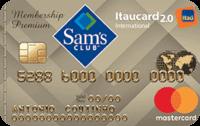 Logo Banco Itaú Cartão Sam's Itaucard 2.0 Mastercard Internacional