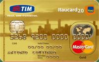 Logo Banco Itaú Cartão Tim Itaucard 2.0 Mastercard Gold Internacional