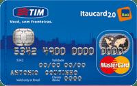 Logo Banco Itaú Cartão Tim Itaucard 2.0 Mastercard Nacional