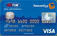 Logo Banco Itaú TIM Itaucard 2.0 Nacional Visa