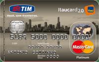 Logo Banco Itaú TIM Itaucard 2.0 Mastercard Platinum