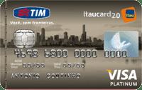 Logo Banco Itaú TIM Itaucard 2.0 Visa Platinum
