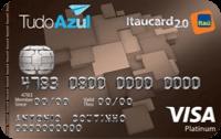 Logo Banco Itaú Cartão TudoAzul Itaucard 2.0 Visa Platinum