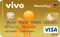 Logo Banco Itaú VIVO Itaucard 2.0 Pós Visa Gold