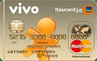 Logo Banco Itaú VIVO Itaucard 2.0 Pós Mastercard Internacional