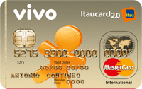 Logo Banco Itaú VIVO Itaucard 2.0 Pré Mastercard Internacional