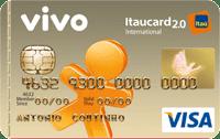 Logo Banco Itaú Cartão Vivo Itaucard 2.0 Pré Visa Internacional
