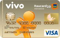 Logo Banco Itaú VIVO Itaucard 2.0 Pré Visa Internacional