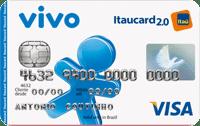 Logo Banco Itaú Cartão Vivo Itaucard 2.0 Pré Visa Nacional