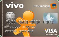 Logo Banco Itaú Cartão Vivo Itaucard 2.0 Pós Visa Platinum Internacional