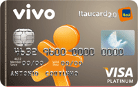 Logo Banco Itaú VIVO Itaucard 2.0 Pós Visa Platinum